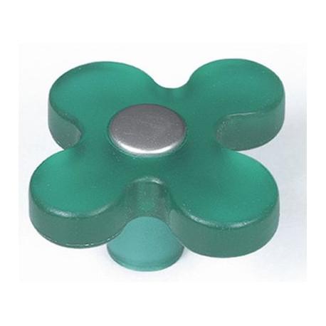 Pomo Mueble Infantil Abs Flor Verde 49mm