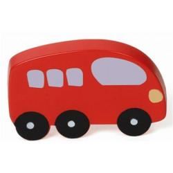 Pomo Mueble Infantil Abs Autobus  Rojo 56x83mm