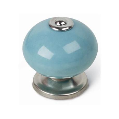 Pomo Mueble Azul Celeste 40mm