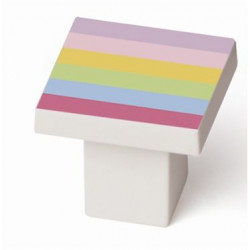 Pomo Mueble Infantil Abs Arco Iris 30x30mm