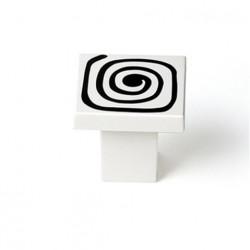Pomo Mueble Infantil Abs Blanco Espiral 30mm