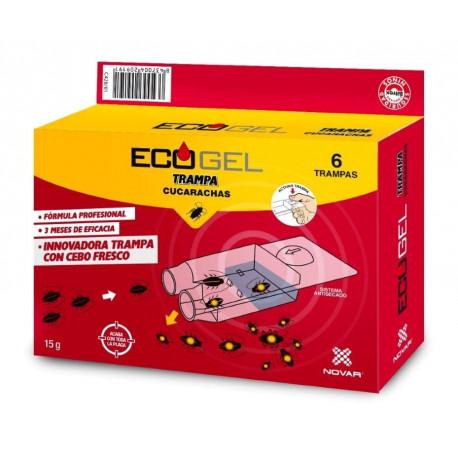 Ecogel Cucarachas Trampa 15 Gr (6 Unidades)