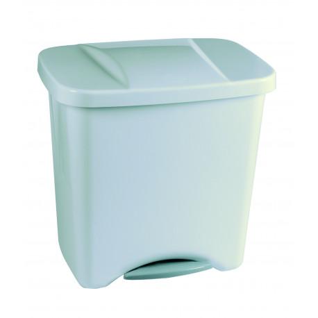 Cubo de Basura Pedal 50l Plata Ecologico Plastico C/separadores