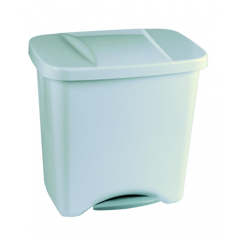 Cubo de basura pedal 50l plata ecologico plastico c separadores masferreteria - Cubo basura pedal ...