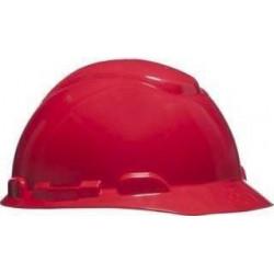 Casco Obra H700 Ajustable Con Arnes De Cabeza Rojo
