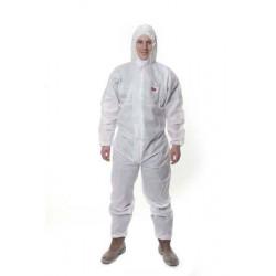 Buzo Polipropileno Sms 4515 Desechable C/capucha Blanco T-l