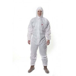 Buzo Polipropileno Sms 4515 Desechable C/capucha Blanco T-xl