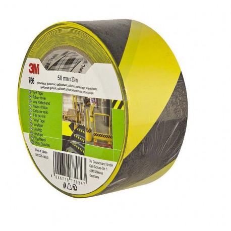 Cinta Señalizacion Vinilo 764 33mx50mm Negra/amarilla