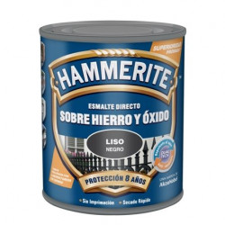 Esmalte Antioxidante Hammerite Liso Brill Gris Plata 2,5l