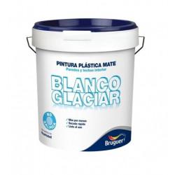 Pintura Plastica Mate Blanca Interior Glaciar 04 Lts Bruguer
