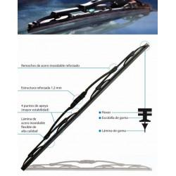 "Escobilla Limpiaparabrisas Universal 16""/40cm Tecnocem 1pz 2"