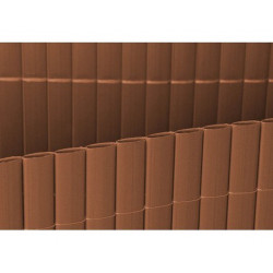 Cañizo Plastico Doble 1.5x5 Mt Marron