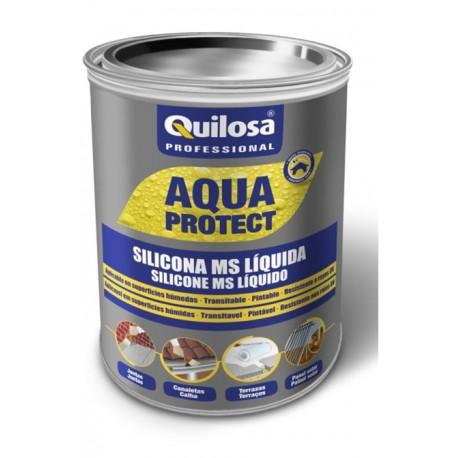 Silicona Ms Liquida Impermeabiliz Blanca 1kg Aqua Protect