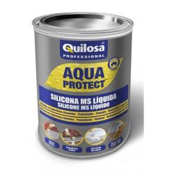 Silicona Ms Liquida Impermeabiliz Negra 1kg Aqua Protect
