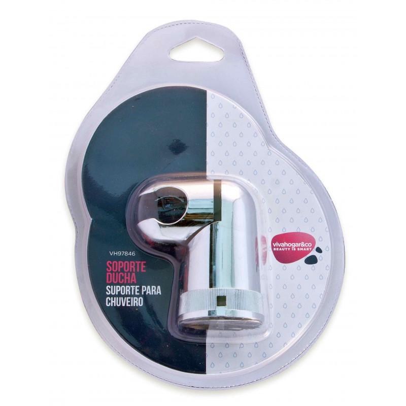 Comprar soporte ducha ajustable con codo cromo en for Soporte ducha
