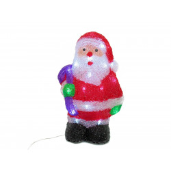 Adorno Navidad Papa Noel Led 30 Luces 30x20 Cm