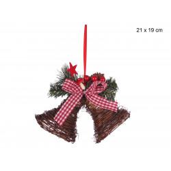 Adorno Navidad Campana Juinsa 21x19 Cm
