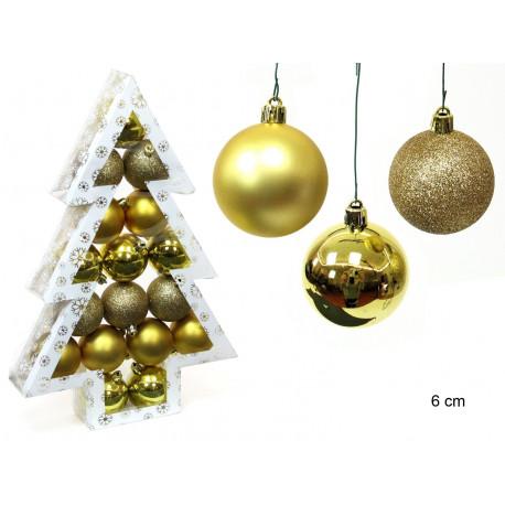 Adorno Navidad Decoracion Bola Set 17 Juinsa 6 Cm