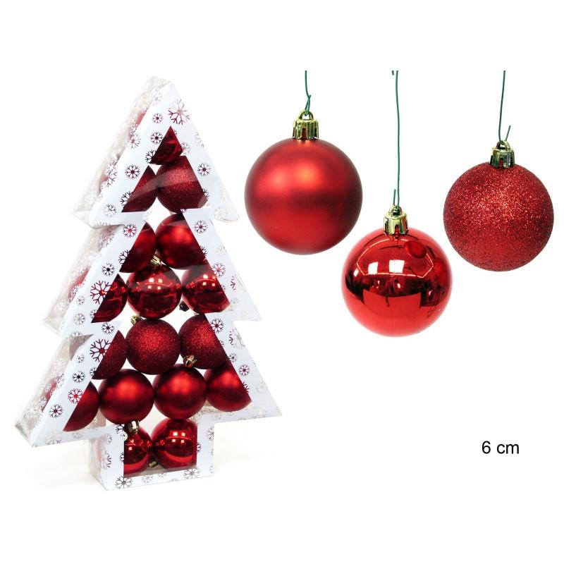 Comprar adorno navidad decoracion bola set 17 juinsa 6 cm for Buscar adornos de navidad