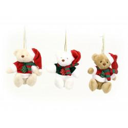 Adorno Navidad Decoracion Colgante Oso Tejido Juinsa 10 Cm