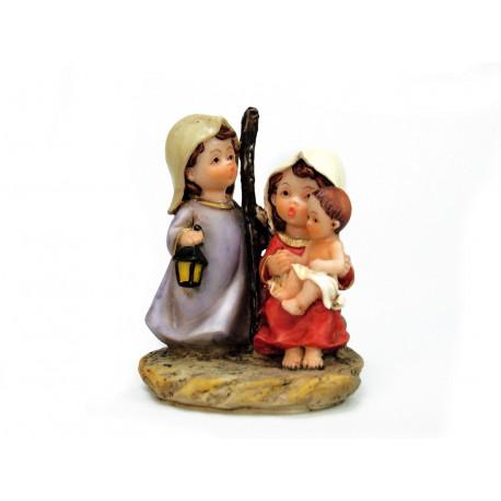Adorno Navidad Nacimiento 3 Pz Poliresina Juinsa 8,5 Cm