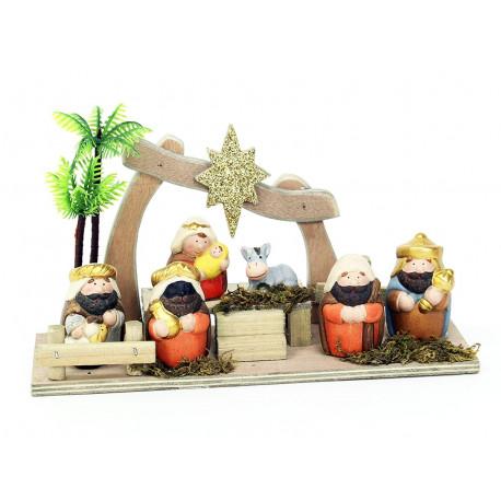 Adorno Navidad Portal 5 Pz Ceramica Juinsa 26x14,50 Cm