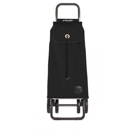 Carro Compra 4r 43lt Plegable Liso Negro Rolser