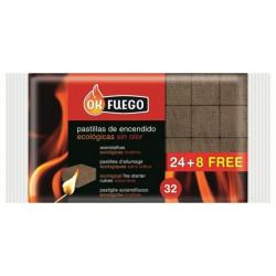 Pastilla Encendido Ecologica 24+8 Pz Ok Fuego