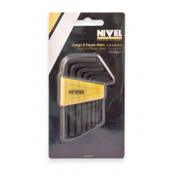Llave Allen 1.5-6mm 8 Pzas Nivel