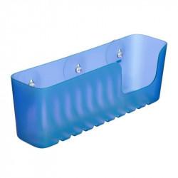Cestillo Baño Rectangular Fijacion Ventosa Grande Azul