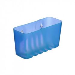 Cestillo Baño Rectangular Fijacion Ventosa Pequeño Azul