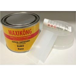 Masilla Poliester Tixotropica 500gr Blanca + Activador 15gr