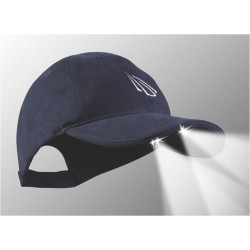 Gorra Con Luz 4 Led Powercap Azul