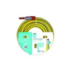 Manguera Tricotada Nts 5 Capas Amarill C/acc 15mm 15mt