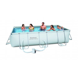 Piscina Tubular 404x201x100cm Rectangular Frame Pool