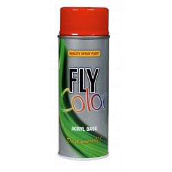 Pintura Acril Mate Spray 400 Ml Ral 9005 Negro Profundo Fly