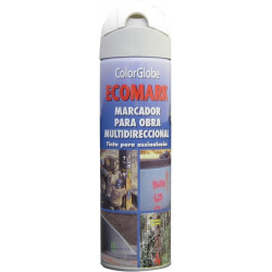 Pintura Marcaje Obras Blanco Spray 500ml Ecomark