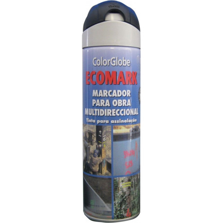 Pintura Marcaje Obras Negro Spray 500ml Ecomark