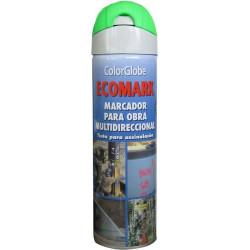 Pintura Marcaje Obra Fluor. Spray Ver 500 Ml Crc