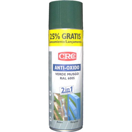 Pintura Anticorrosion Ral 6005 Zinc+verde Musgo Spray 500ml