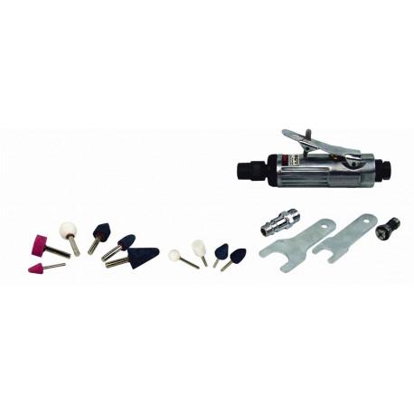 Amoladora Mini Neumatica 6,3bar +10 Acces Cevik 80 Lt/min