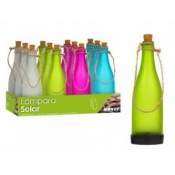 Lámpara Solar Botella Vidrio 4/c 25 Cm