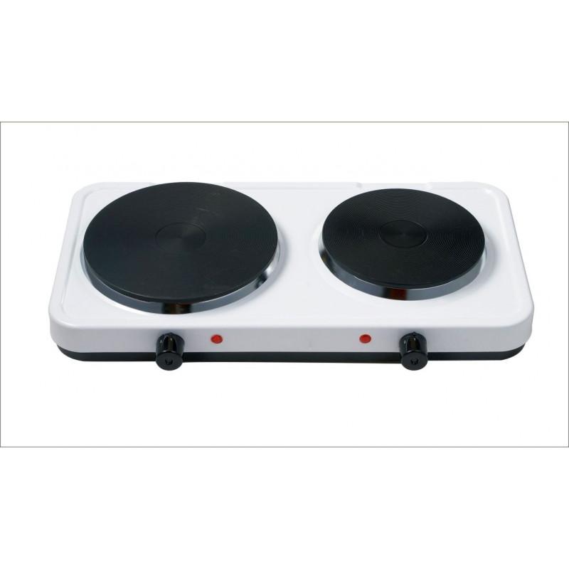 Cocina portatil electrica 2 placas 480x285x80mm 1500 1000w masferreteria - Cocina electrica portatil ...