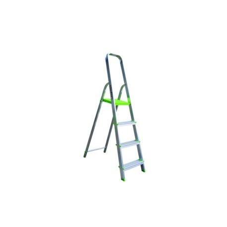 Escalera Domestica Aluminio 4 Pelda Os Masferreteria