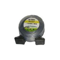 Hilo Nylon Redondo De Aluminio Para Desbrozadora 3,3 X 46 M