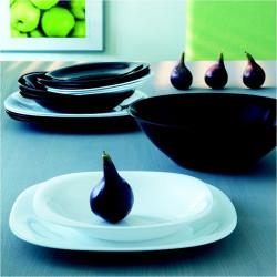 Vajilla Porcelana 19p Carine Negro&blanco Moderne Lum