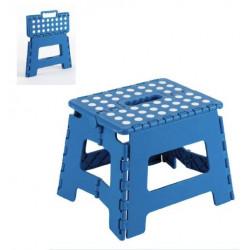 Taburete Plegable Plastico 250x210x200mm Max.150kg Azul