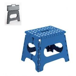 Taburete Plegable Plastico 290x270x220mm Max.150kg Azul