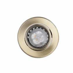 Foco Bascul Led Gu10 4w Met Bronce Rdo Megaled