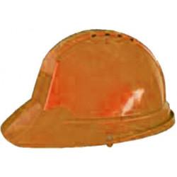 Casco Obra Ranura 30mm Con Desusadora Naranja